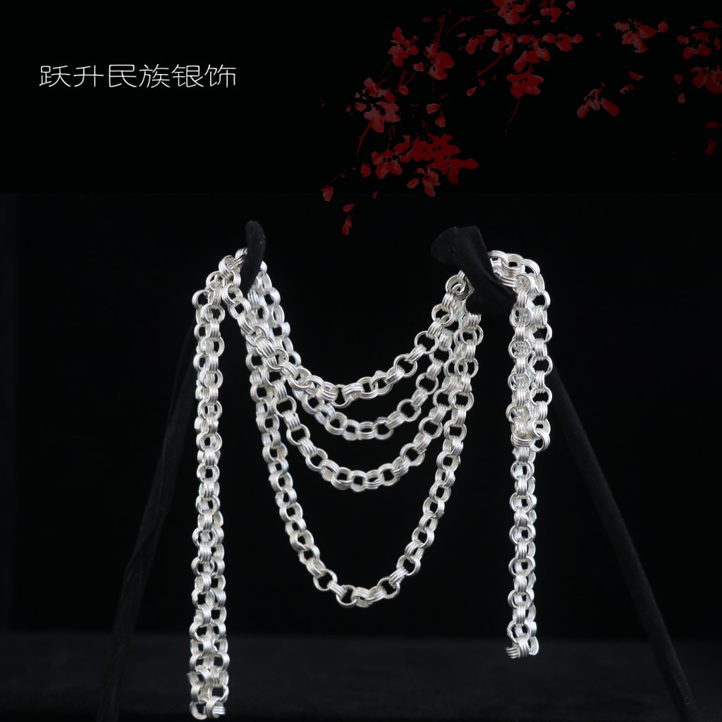高色银三丝链1.5尺